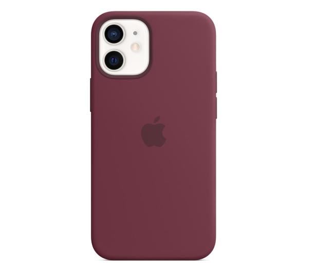 Apple Silikonowe etui iPhone 12 mini dojrzała śliwka - 598762 - zdjęcie