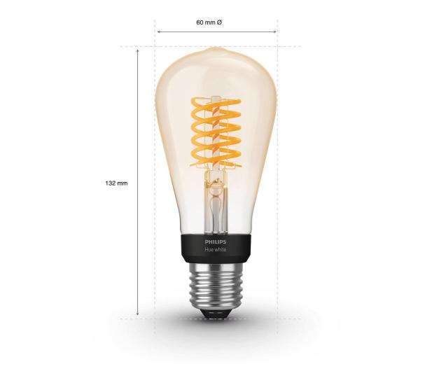 Philips Hue White Retro ST64 Filament Edison (1szt. E27 7W) - 534689 - zdjęcie 3