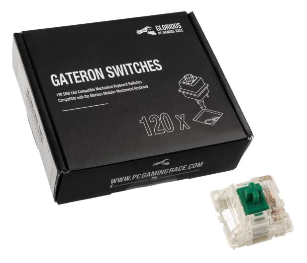 Glorious PC Gaming Race Gateron Green Switches (120 szt.) - 595767 - zdjęcie