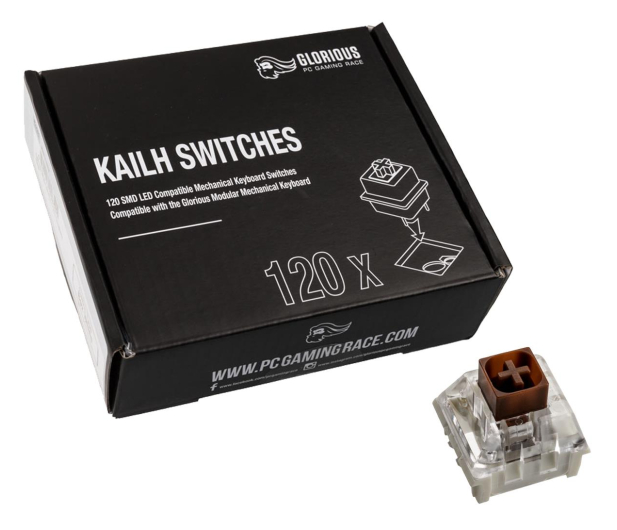Glorious PC Gaming Race Kailh Box Brown Switches (120 szt.) - 595772 - zdjęcie