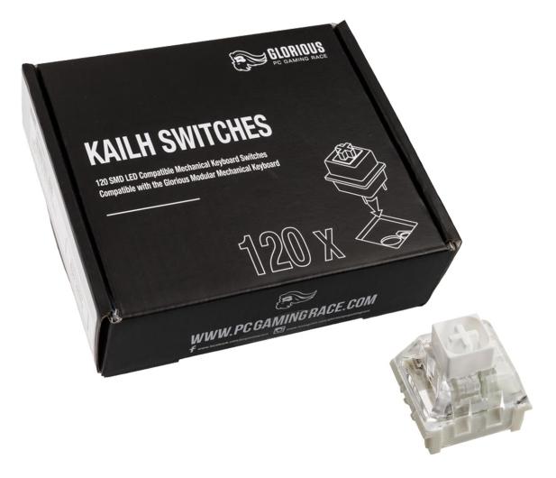 Glorious PC Gaming Race Kailh Box White Switches (120 szt.) - 595775 - zdjęcie