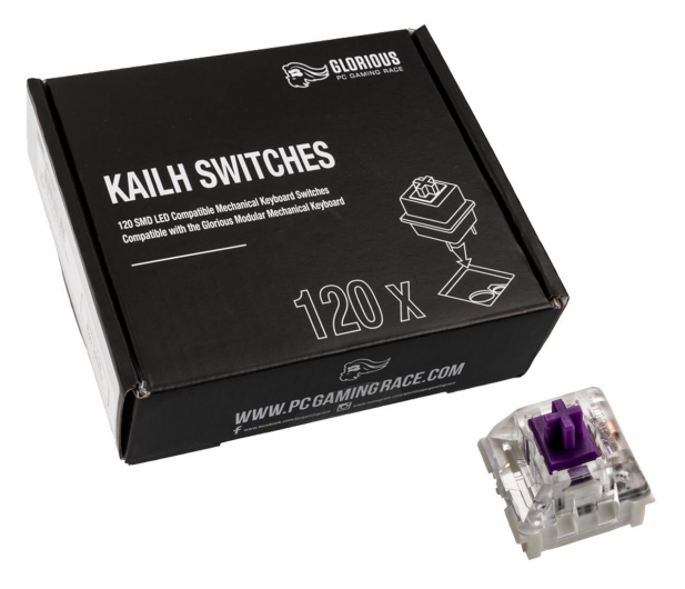 Glorious PC Gaming Race Kailh Pro Purple Switches (120 szt.) - 595776 - zdjęcie