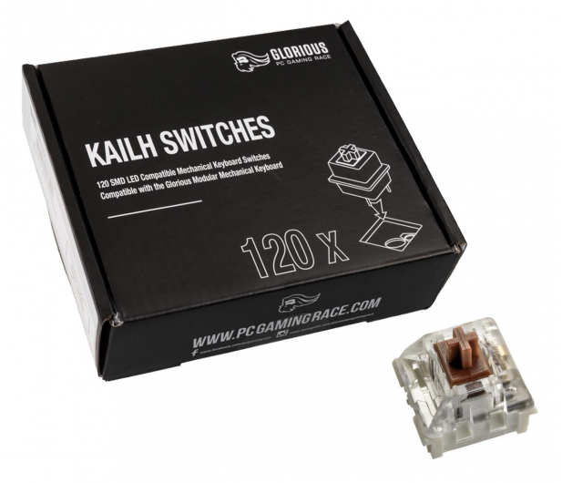 Glorious PC Gaming Race Kailh Speed Bronze Switches (120 szt.) - 595777 - zdjęcie