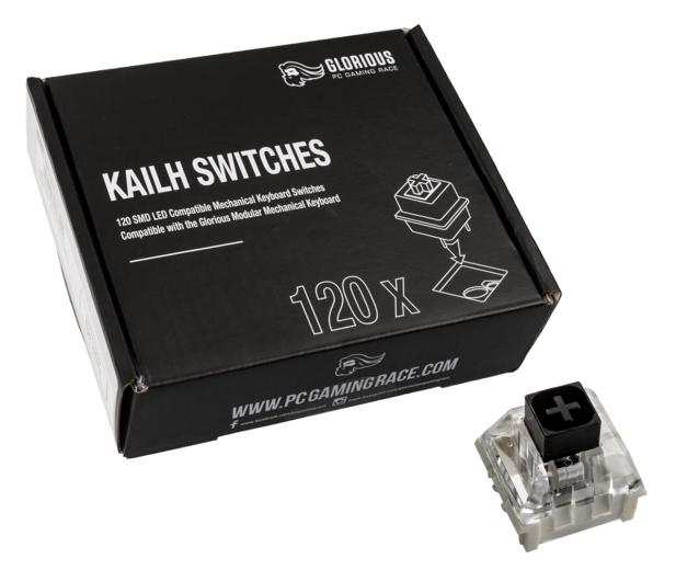 Glorious PC Gaming Race Kailh Box Black Switches (120 szt.) - 595771 - zdjęcie