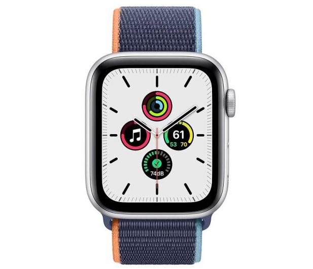 Apple Watch SE 44/Silver Aluminium/Deep Navy Sport LTE - 595345 - zdjęcie 2