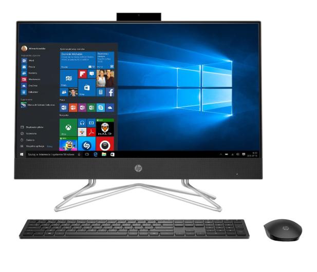 HP 24 AiO i3-10100T/4GB/256/Win10 Black - 596998 - zdjęcie