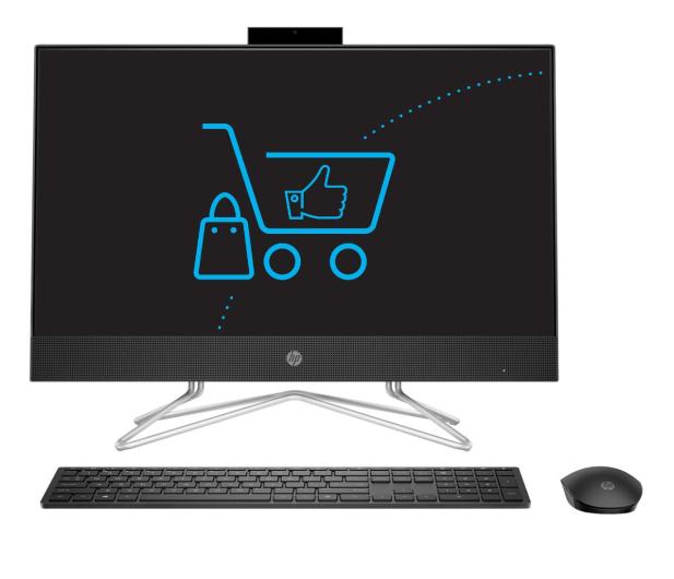 HP 24 AiO i5-10400T/8GB/512 Black - 597000 - zdjęcie