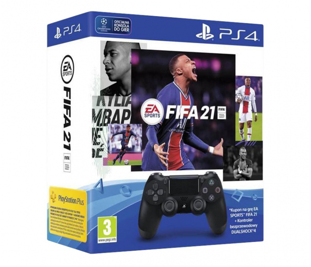 Sony PlayStation 4 DualShock 4 Black V2 + Fifa 21 - 596451 - zdjęcie