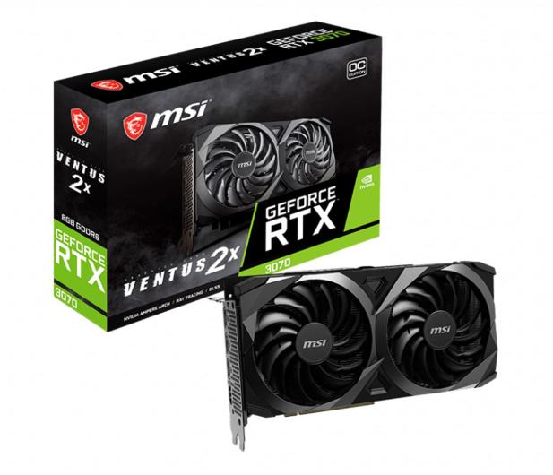 MSI GeForce RTX 3070 Ventus 2X OC 8GB GDDR6 - 597351 - zdjęcie