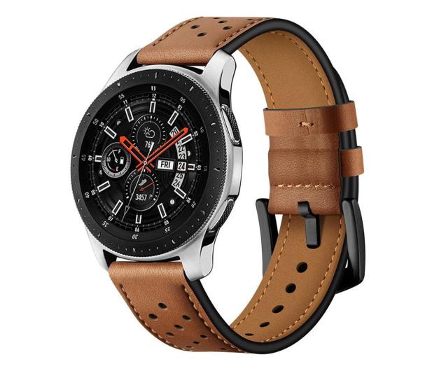 Tech-Protect Pasek Leather do smartwatchy brązowy - 605304 - zdjęcie