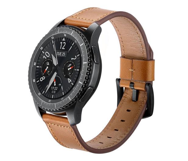 Tech-Protect Pasek Skórzany Herms do smartwatchy brązowy - 605280 - zdjęcie