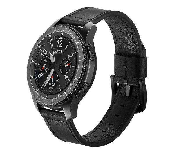 Tech-Protect Pasek Skórzany Herms do smartwatchy czarny - 605282 - zdjęcie