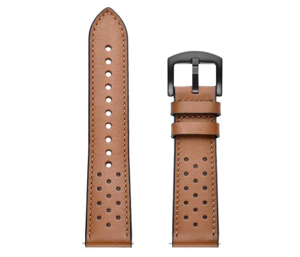 Tech-Protect Pasek Leather do smartwatchy brązowy - 605305 - zdjęcie 3