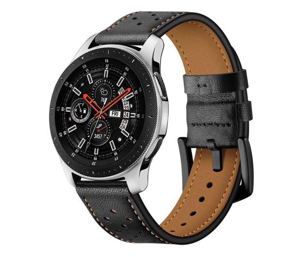 Tech-Protect Pasek Leather do smartwatchy czarny - 605302 - zdjęcie