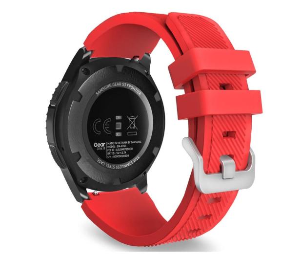 Tech-Protect Pasek Smoothband do smartwatchy czerwony - 605291 - zdjęcie