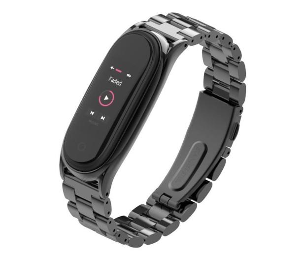 Tech-Protect Bransoleta Stainless do Xiaomi Mi Band 5/6 black - 605426 - zdjęcie