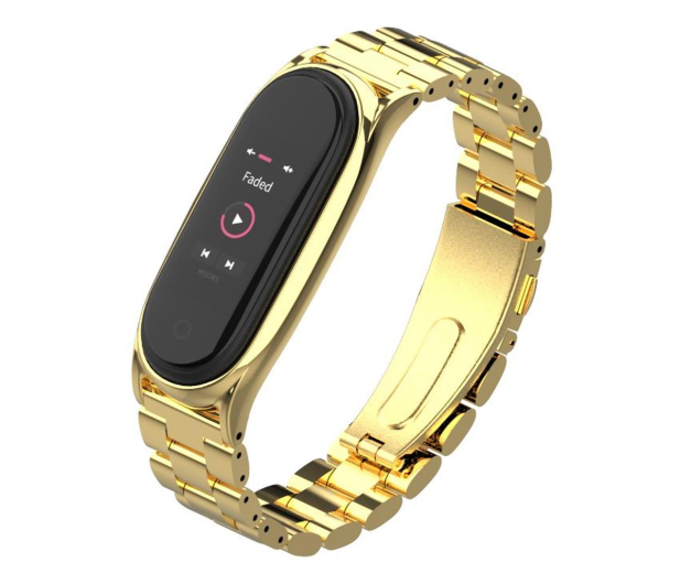 Tech-Protect Bransoleta Stainless do Xiaomi Mi Band 5 gold - 605432 - zdjęcie