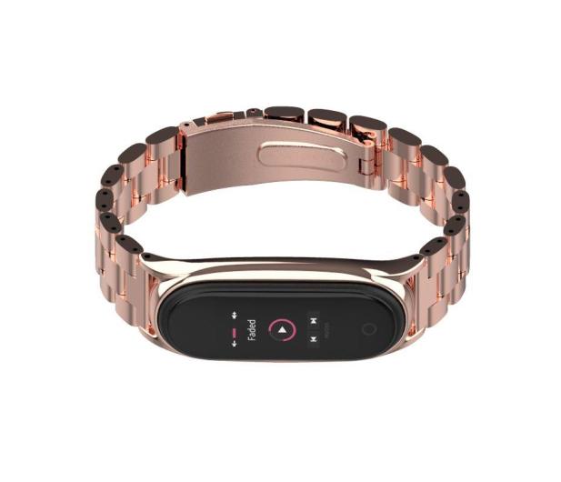 Tech-Protect Bransoleta Stainless do Xiaomi Mi Band 5 rose gold - 605433 - zdjęcie 2