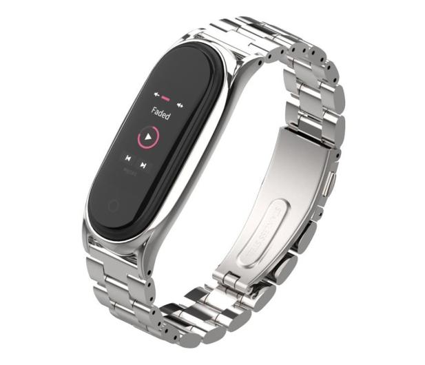 Tech-Protect Bransoleta Stainless do Xiaomi Mi Band 5/6 silver - 605434 - zdjęcie