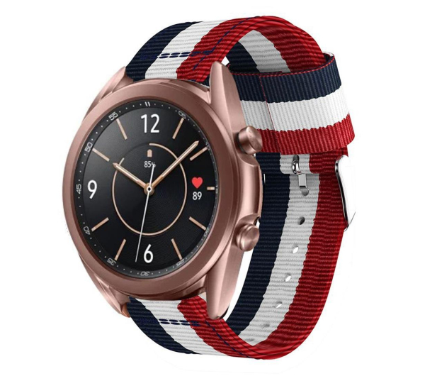 Tech-Protect Pasek Welling do smartwatchy navy/red - 605542 - zdjęcie