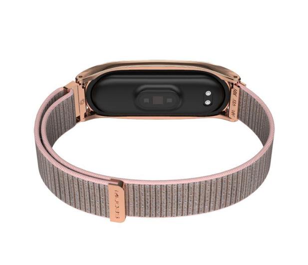 Tech-Protect Pasek Nylon do Xiaomi Mi Band 5/6 rose gold - 605547 - zdjęcie 3