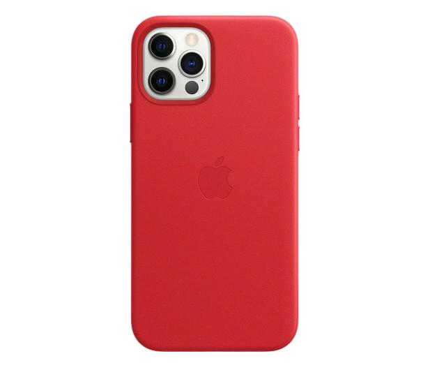 Apple Skórzane etui iPhone 12|12Pro (PRODUCT)RED - 607218 - zdjęcie