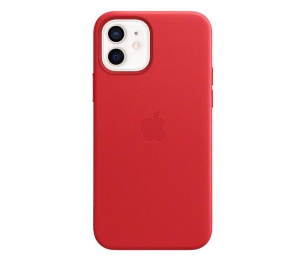 Apple Skórzane etui iPhone 12|12Pro (PRODUCT)RED - 607218 - zdjęcie 2