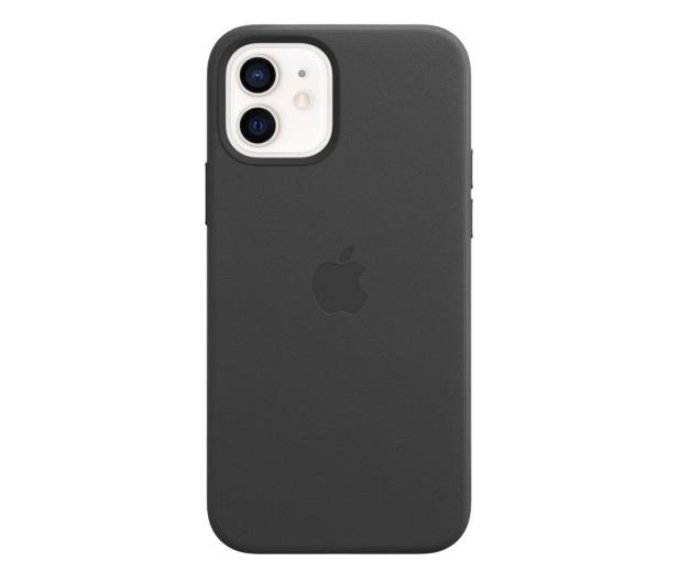 Apple Skórzane etui iPhone 12|12Pro czarne - 607221 - zdjęcie 2