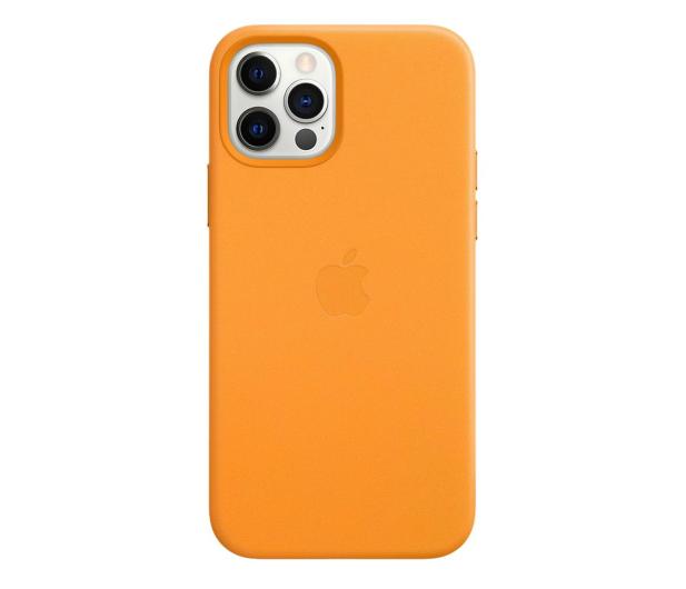 Apple Skórzane etui iPhone 12|12Pro kalifornijski mak - 607216 - zdjęcie