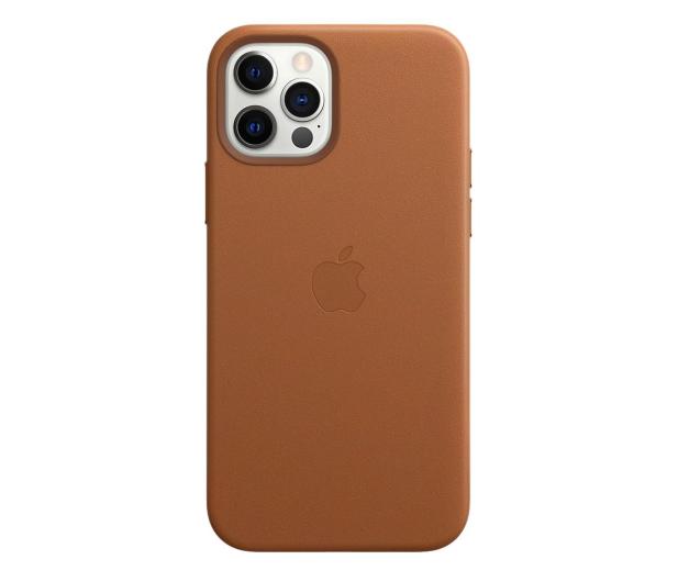 Apple Skórzane etui iPhone 12|12Pro naturalny brąz - 607220 - zdjęcie