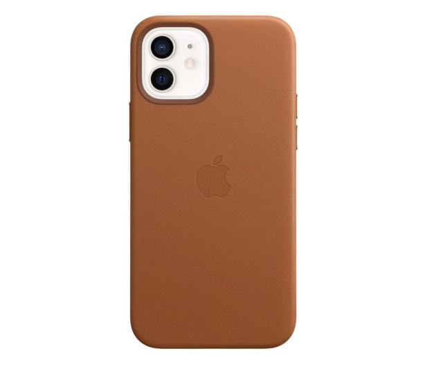 Apple Skórzane etui iPhone 12|12Pro naturalny brąz - 607220 - zdjęcie 2