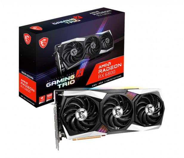MSI Radeon RX 6800 GAMING X TRIO 16GB GDDR6 - 608241 - zdjęcie