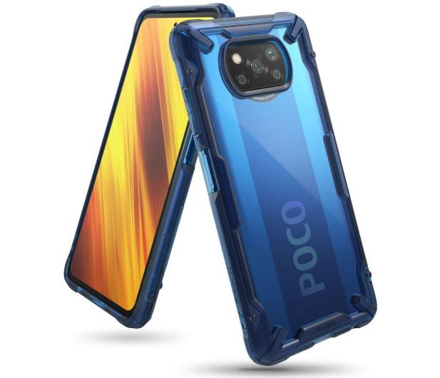 Ringke Fusion X do Xiaomi POCO X3/X3 Pro niebieski - 604863 - zdjęcie 2
