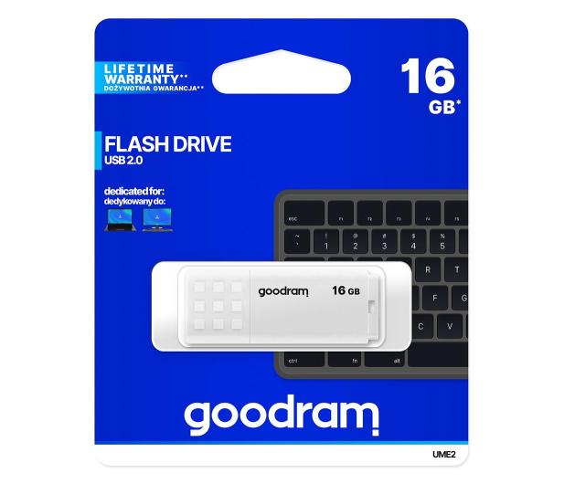 GOODRAM 16GB UME2 odczyt 20MB/s USB 2.0 biały - 606420 - zdjęcie 5