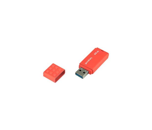 GOODRAM 64GB UME3 odczyt 60MB/s USB 3.0 pomarańczowy - 606354 - zdjęcie 3
