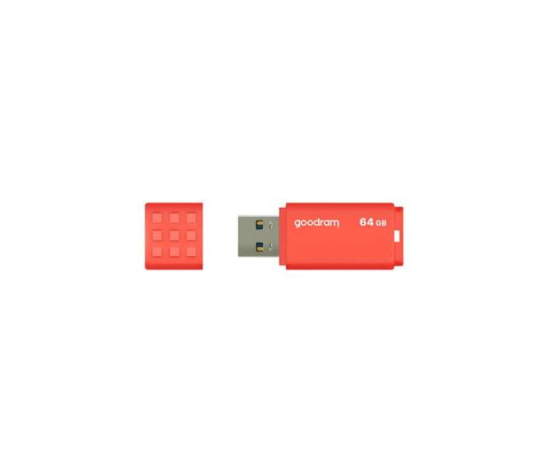 GOODRAM 64GB UME3 odczyt 60MB/s USB 3.0 pomarańczowy - 606354 - zdjęcie 2