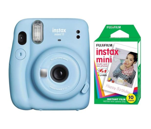 Fujifilm Instax Mini 11 niebieski + wkłady (10 zdjęć) - 606753 - zdjęcie