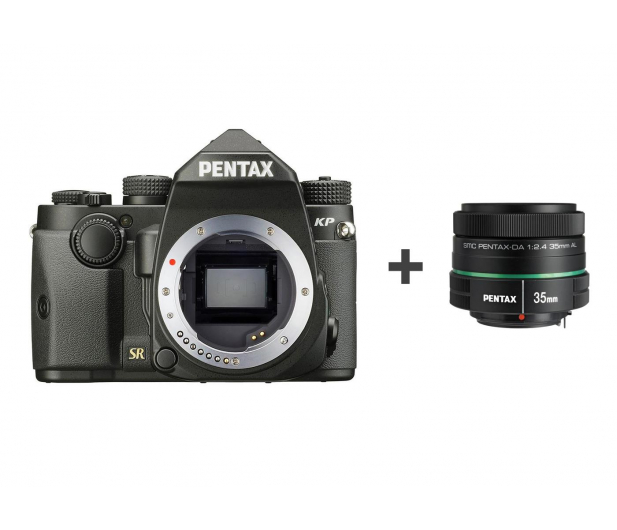 Pentax KP body czarny + DA 35mm F2.4 - 608022 - zdjęcie