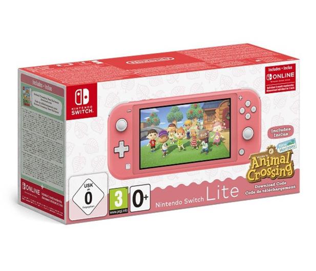 Nintendo Switch Lite - Koralowy + ACNH + NSO 3 miesiące - 609798 - zdjęcie