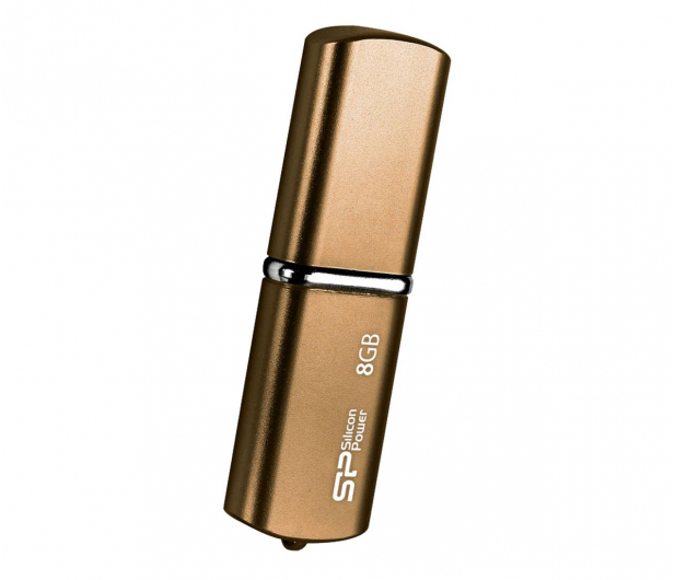 Silicon Power 8GB LuxMini 720 USB 2.0 brązowy - 607670 - zdjęcie