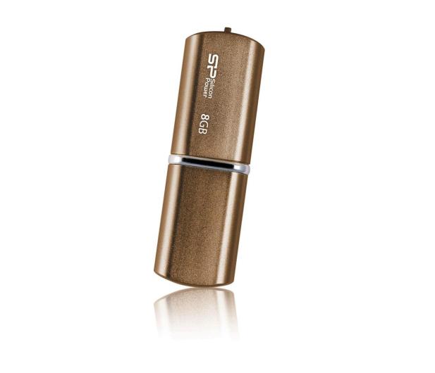 Silicon Power 8GB LuxMini 720 USB 2.0 brązowy - 607670 - zdjęcie 2