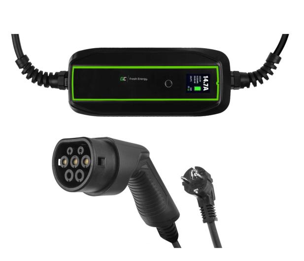 Green Cell Ładowarka GC EV PowerCable 3,6kW Schuko - Type 2 - 601279 - zdjęcie