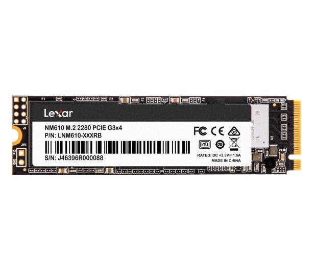 Lexar 500GB M.2 PCIe NVMe NM610 - 590685 - zdjęcie