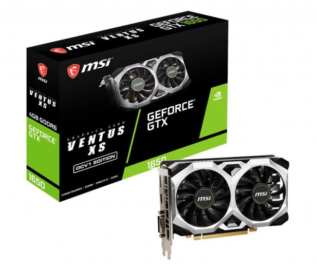 MSI GeForce GTX 1650 D6 VENTUS XS OCV1 4GB GDDR6 - 602282 - zdjęcie
