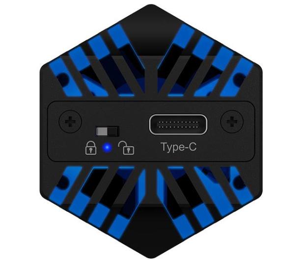 ICY BOX USB-C do M.2 NVMe (10 Gbps, Aluminium, RGB) - 601762 - zdjęcie 4