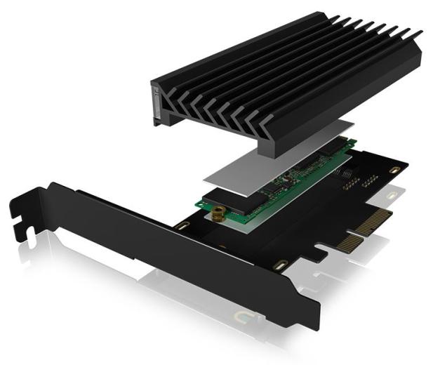 ICY BOX Kontroler PCI-E - M.2 NVMe - ARGB - 601777 - zdjęcie 3