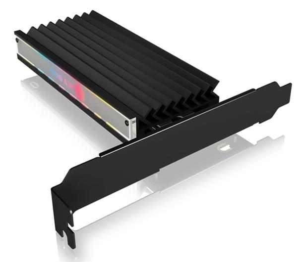 ICY BOX Kontroler PCI-E - M.2 NVMe - ARGB - 601777 - zdjęcie