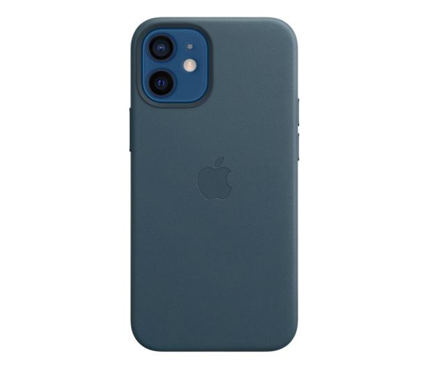 Apple Skórzane etui iPhone 12 mini bałtycki błękit - 604808 - zdjęcie