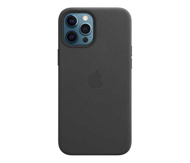 Apple Skórzane etui iPhone 12 Pro Max czarne - 604817 - zdjęcie