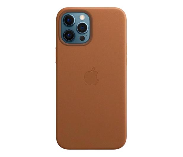 Apple Skórzane etui iPhone 12 Pro Max naturalny brąz - 604819 - zdjęcie